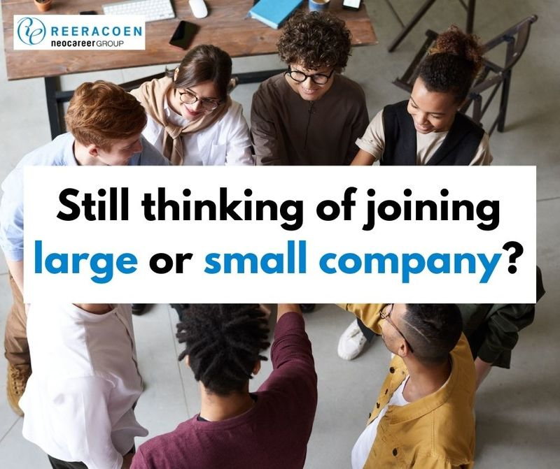 Still thinking of joining large or small company?