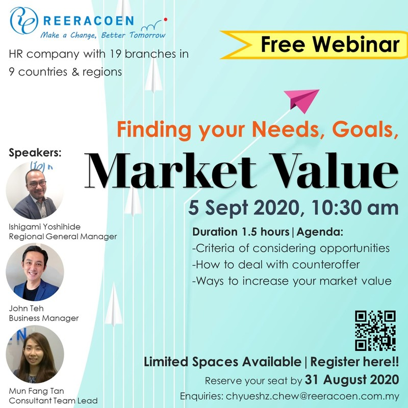 Webinar- Finding your needs, goals and market value