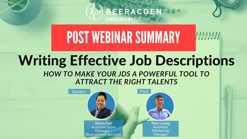 Writing Effective Job Descriptions – Post webinar summary