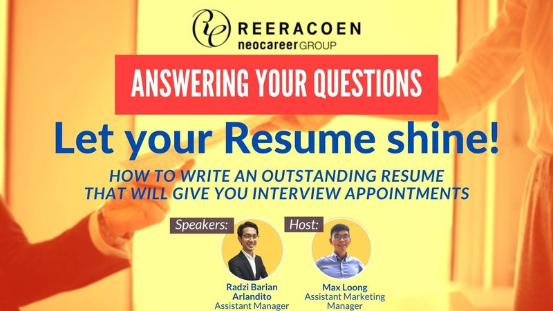 ANSWERING YOUR QUESTIONS -  LET YOUR RESUME SHINE! - WEBINAR